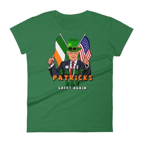 Make St Pattys great again Women's short sleeve t-shirt,  - Sarx Clothing