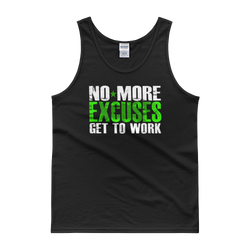 No More Excuses Mens Tank top,  - Sarx Clothing
