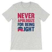 Never Apologize for being RIGHT,  - Sarx Clothing