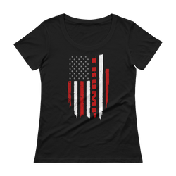 Trump Flag Scoopneck T-Shirt,  - Sarx Clothing