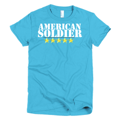American Soldier Short sleeve women's t-shirt,  - Sarx Clothing