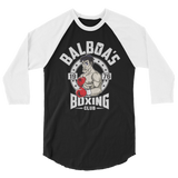 Balboa's Gym 3/4 sleeve raglan shirt,  - Sarx Clothing