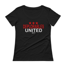Deplorables United Scoopneck T-Shirt,  - Sarx Clothing