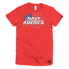Navy Short sleeve women's t-shirt,  - Sarx Clothing