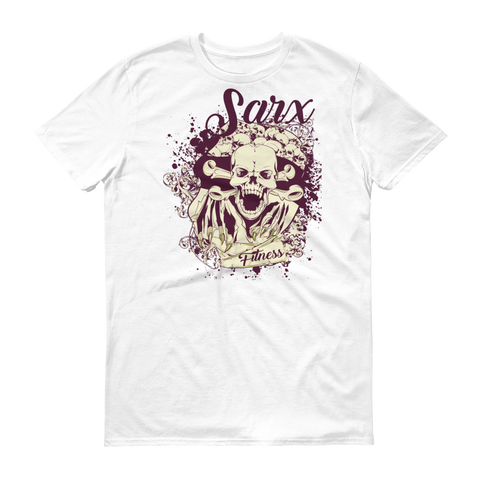 SarX (Red/White) Skull Short sleeve t-shirt,  - Sarx Clothing