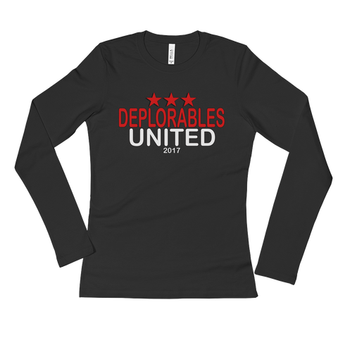 Deplorables United  Long Sleeve T-Shirt,  - Sarx Clothing