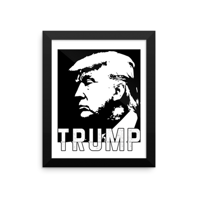 TRUMP Framed photo paper poster,  - Sarx Clothing
