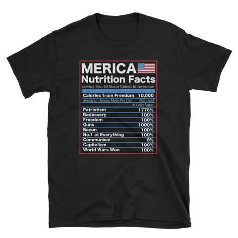 Murica Nutrition facts,  - Sarx Clothing