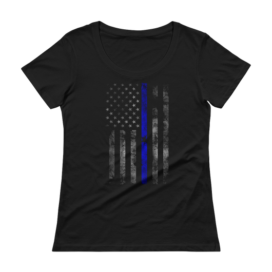 Blue Lives Scoopneck T-Shirt,  - Sarx Clothing