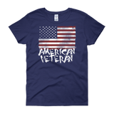 American Veteran Flag Women's short sleeve t-shirt,  - Sarx Clothing