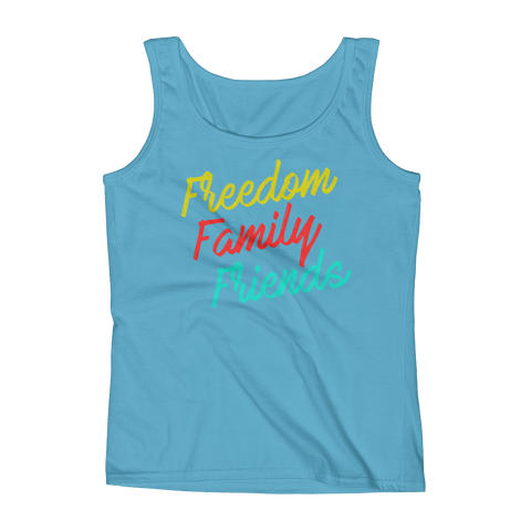 Freedom, Family, Friends Ladies' Tank,  - Sarx Clothing