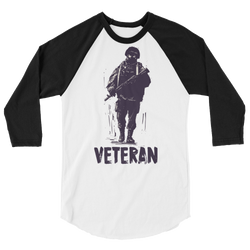 Veteran Soldier Long sleeve raglan shirt