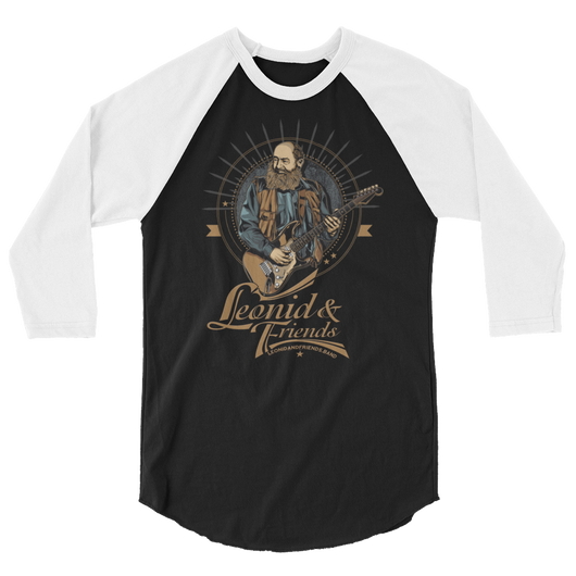Leonid and Friends (Musician Playing) raglan shirt,  - Sarx Clothing