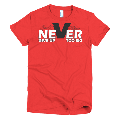 Never Short sleeve women's t-shirt,  - Sarx Clothing