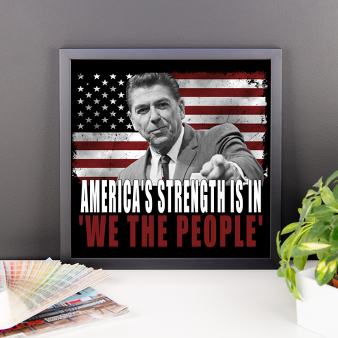 Reagan We the people Framed photo paper poster,  - Sarx Clothing
