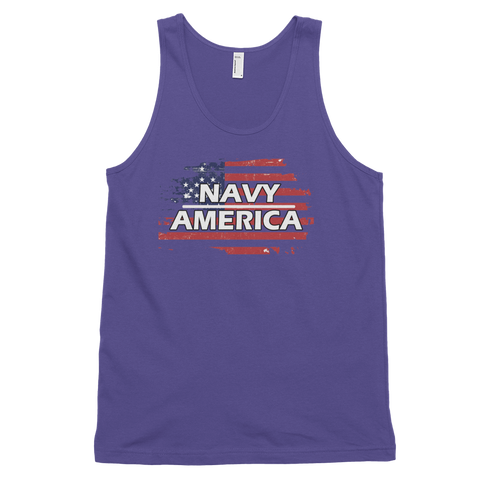 Navy Classic tank top (unisex),  - Sarx Clothing