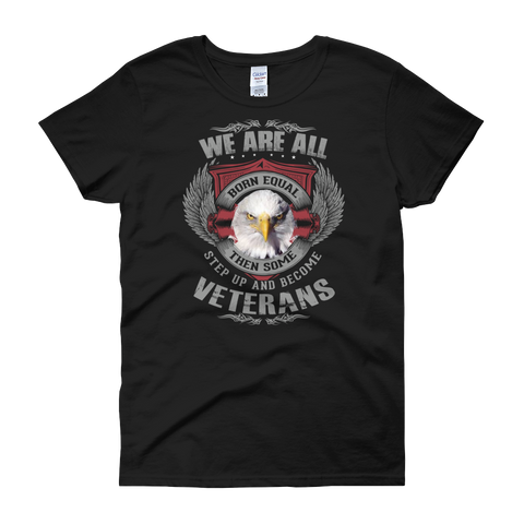 We are born Veterans Women's short sleeve t-shirt,  - Sarx Clothing