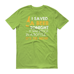 Saved a Beer Short sleeve t-shirt,  - Sarx Clothing