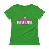 Adorable Deplorable Ladies' Scoopneck T-Shirt,  - Sarx Clothing