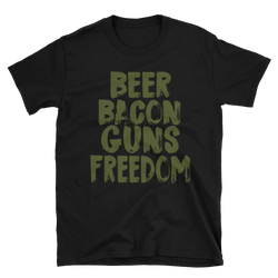 Bacon, Beer, Guns, Freedom,  - Sarx Clothing