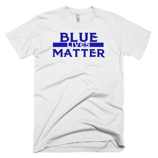 Blue Lives Short sleeve men's t-shirt,  - Sarx Clothing