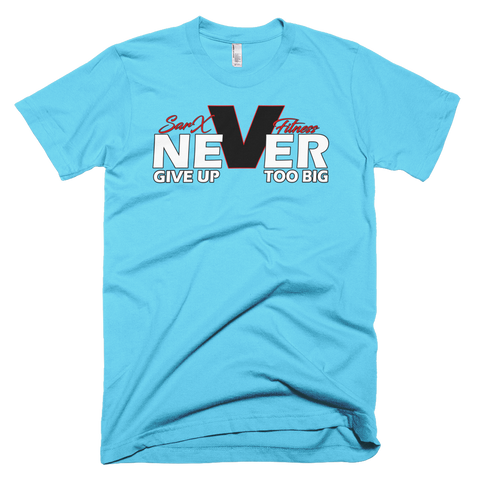 Never Short sleeve men's t-shirt,  - Sarx Clothing