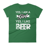 Yes im a girl Women's short sleeve t-shirt - Sarx Clothing