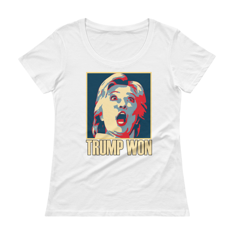 Trump Won Scoopneck T-Shirt,  - Sarx Clothing