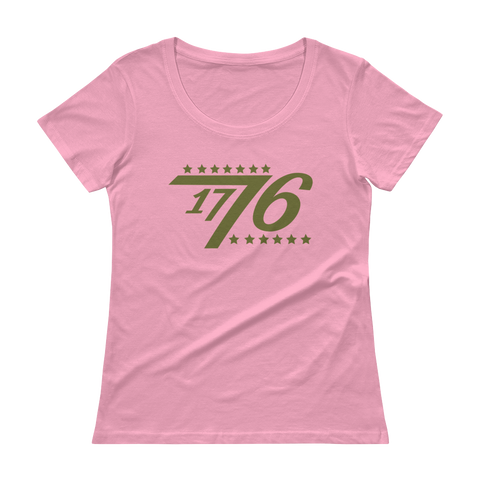 1776 American Scoopneck T-Shirt,  - Sarx Clothing