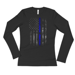 Blue Lives Matter Long Sleeve T-Shirt,  - Sarx Clothing