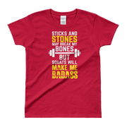 Sticks and Stones Ladies' T-shirt,  - Sarx Clothing