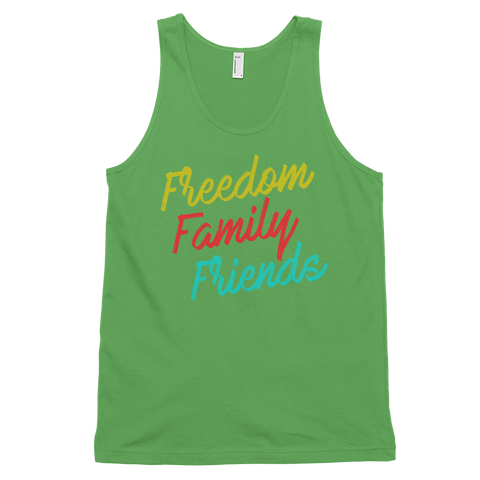Freedom, Family, Friends Classic tank top (unisex),  - Sarx Clothing