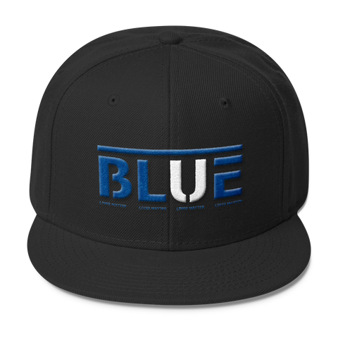 Blue Lives Matters Wool Blend Snapback,  - Sarx Clothing