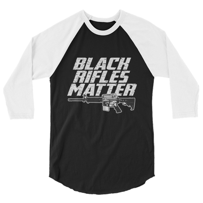 Black Rifles Matter raglan shirt,  - Sarx Clothing