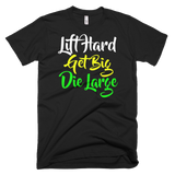 Lift hard Short sleeve men's t-shirt,  - Sarx Clothing