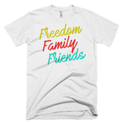 Freedom, Family, Friends Short sleeve men's t-shirt,  - Sarx Clothing