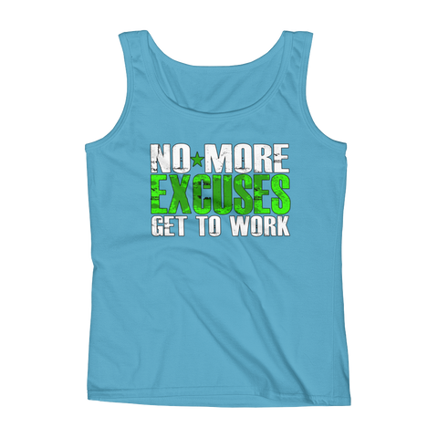 No More Excuses Ladies' Tank,  - Sarx Clothing