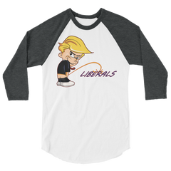 Little Trump Peeing Longsleeve raglan shirt,  - Sarx Clothing