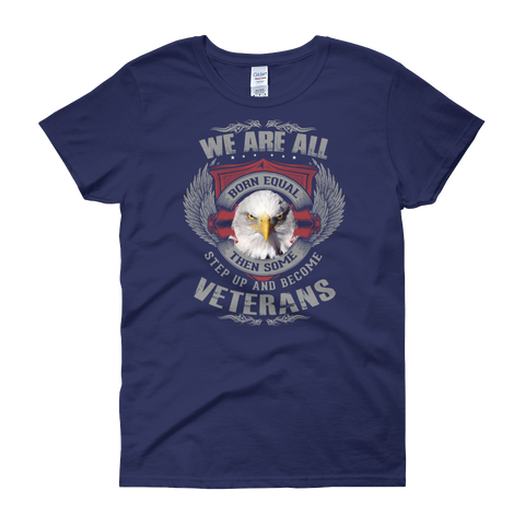 We are born Veterans Women's short sleeve t-shirt - Sarx Clothing