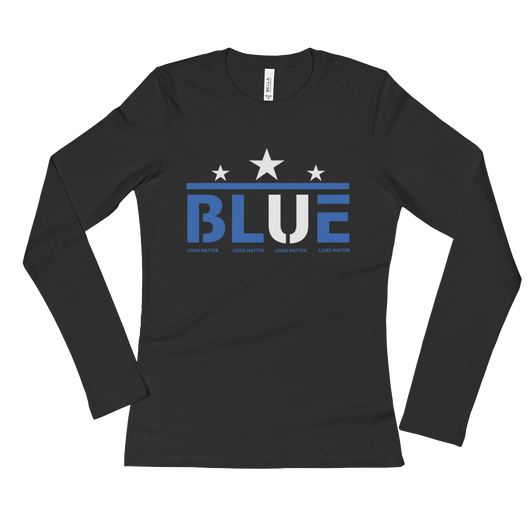 Blue (Star)  Long Sleeve T-Shirt,  - Sarx Clothing