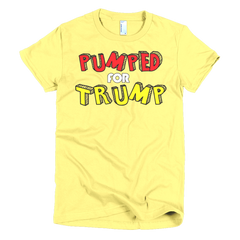 Pumped for Trump Short sleeve women's t-shirt,  - Sarx Clothing
