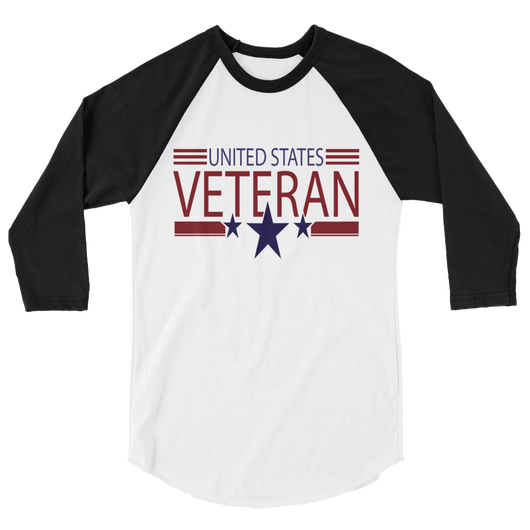 SarX United States Veteran 3/4 sleeve raglan shirt,  - Sarx Clothing