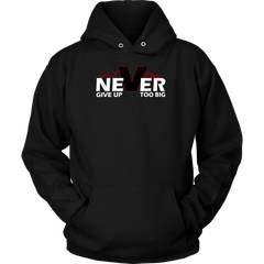 Never Give- Hoodie, T-shirt - Sarx Clothing