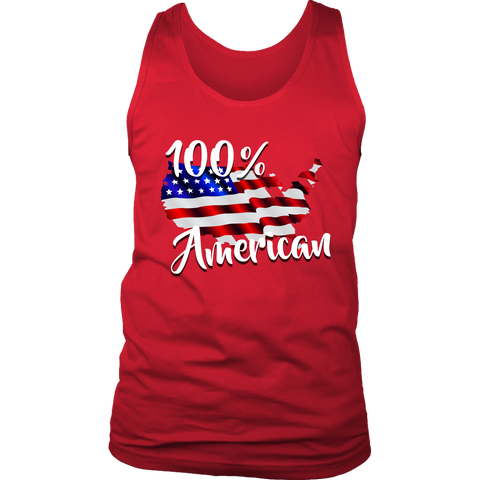 100% Mens Tank, T-shirt - Sarx Clothing