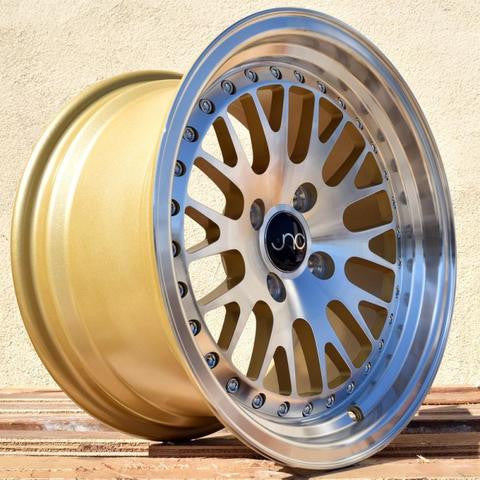 JNC001 Gold Machined Face 15 x 8
