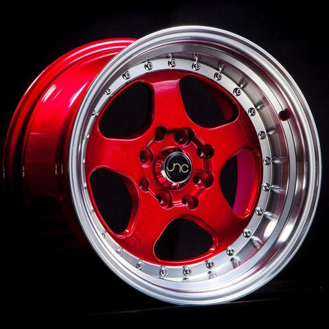 JNC010 Candy Red Machined Lip 18 x 10 - Sakiida