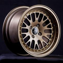 JNC001 Gloss Bronze Gold Rivets 15 x 8