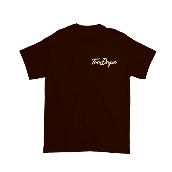 Embroidered Tee (Chocolate)