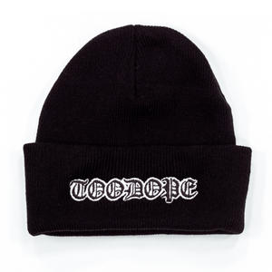 Old English Beanie (Black)