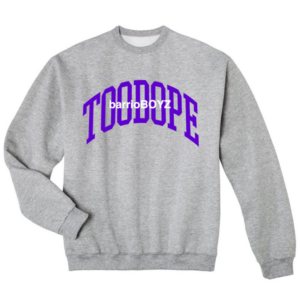 barrioBOYZ Crewneck (Purple on Gray)